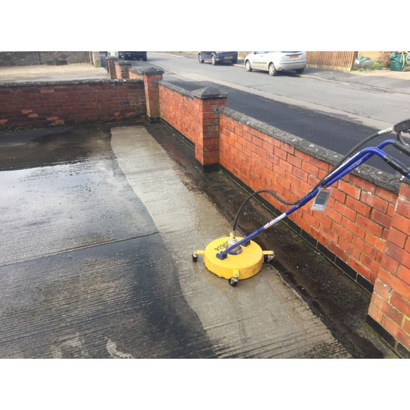 Pressure washer roto jet patio cleaner plantool hire for Concrete pressure washer