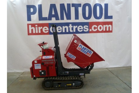 Dumper - Mini Tracked 1100kg Capacity with 1.5 Tonne Mini Excavator (hired seperately) at Plantool Hire Centres