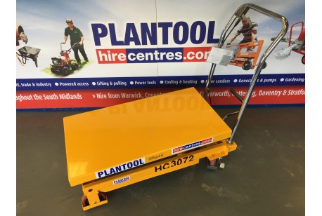 Mobile Scissor Lift Table at Plantool Hire Centres