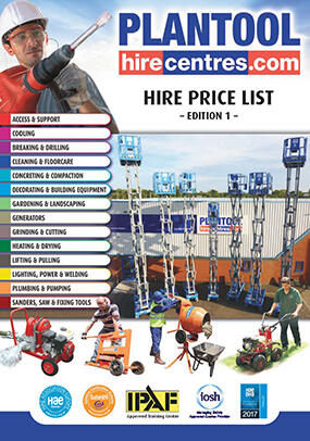 Plantool Hire Centres Price List